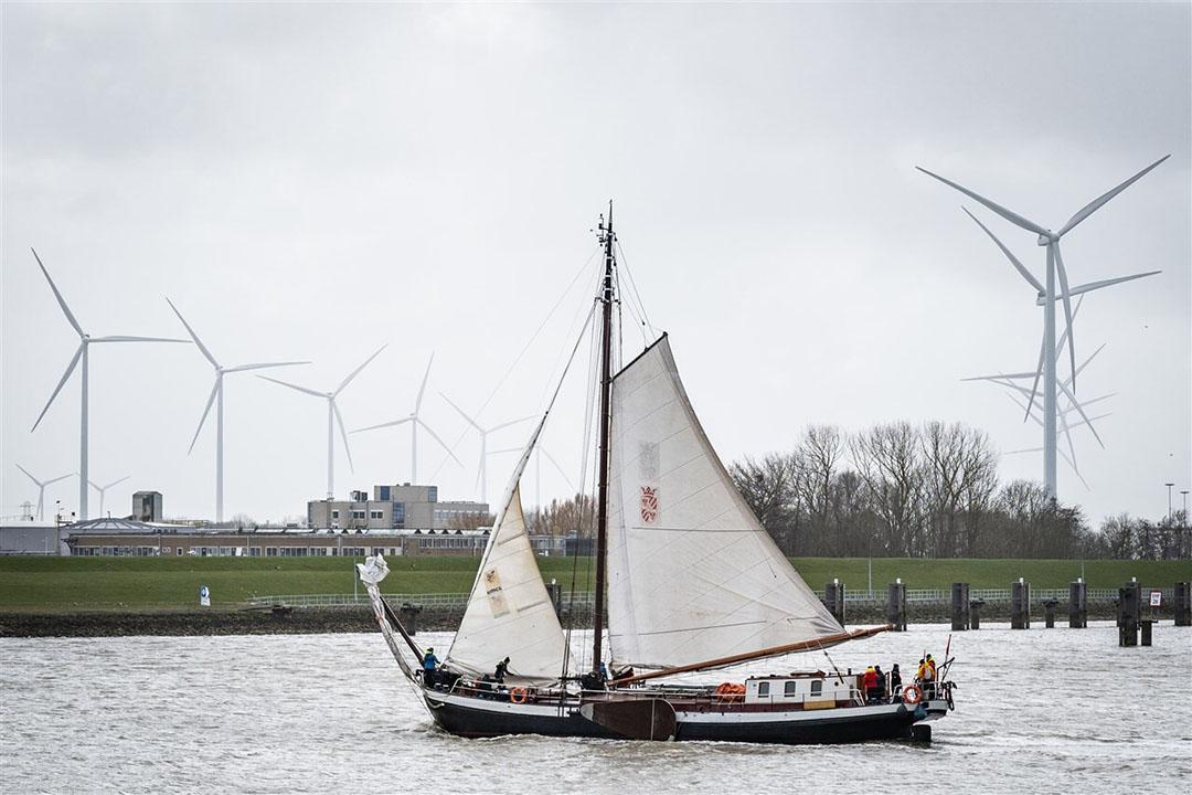 Windmolens in en rond de haven van Delfzijl. Foto: ANP