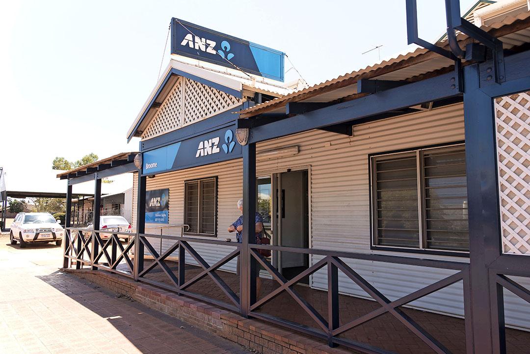 ANZ-filiaal op het platteland. De bank verhoogde de melkprijsprognose met 0,50 NZD.