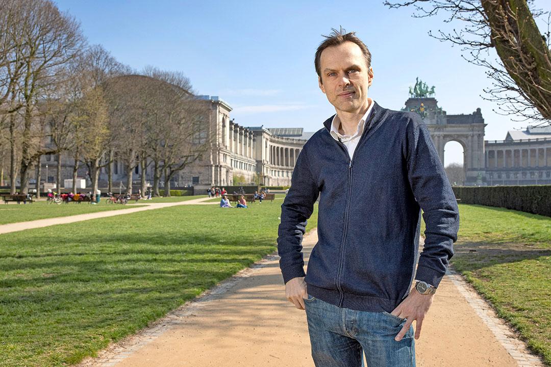 Prof. Dr. Ir. Frédéric Leroy (46) in het Jubelpark in Brussel. Foto: Peter Roek