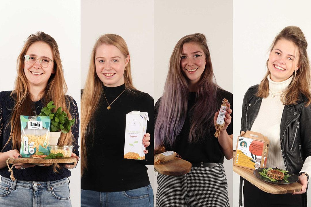 Vlnr: Hanne Clemens, Laura Snellen, Jaimy Wouters en Maud Groenen. - Foto's: HAS Hogeschool