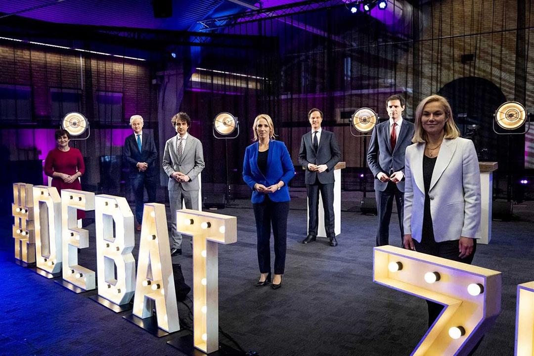 Lijsttrekkers debateerden zaterdag 13 maart tijdens het Debat van het Zuiden, georganiseerd door de Brabantse regionale media. - Foto: ANP/Sem van der Wal