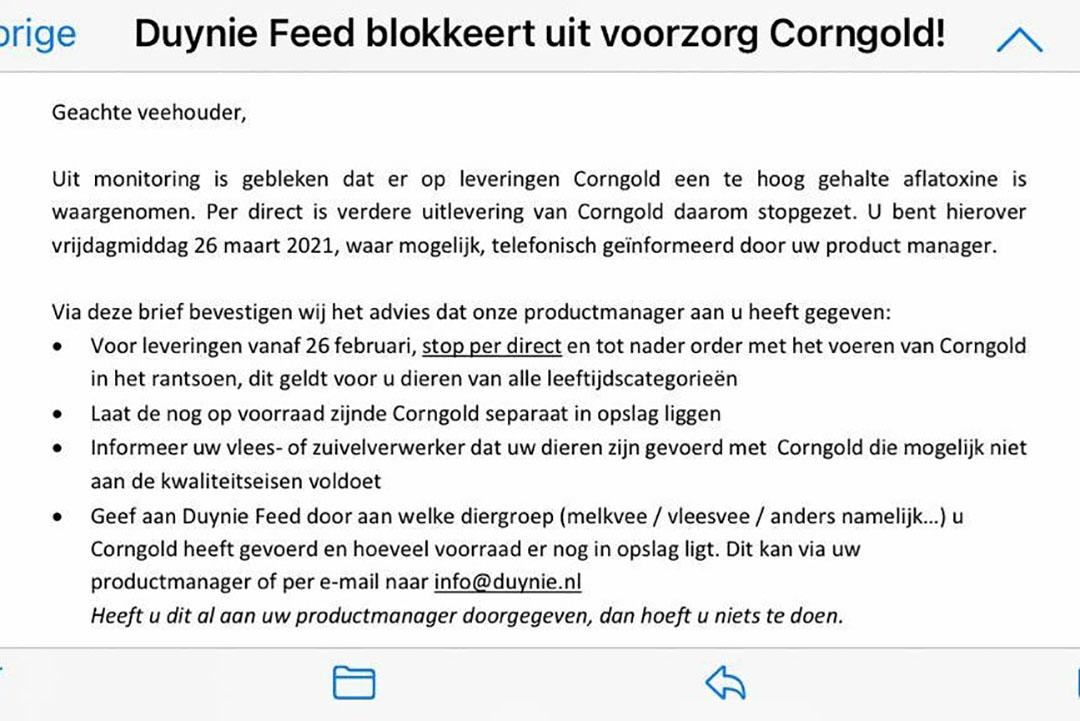 Persverklaring van Duynie.
