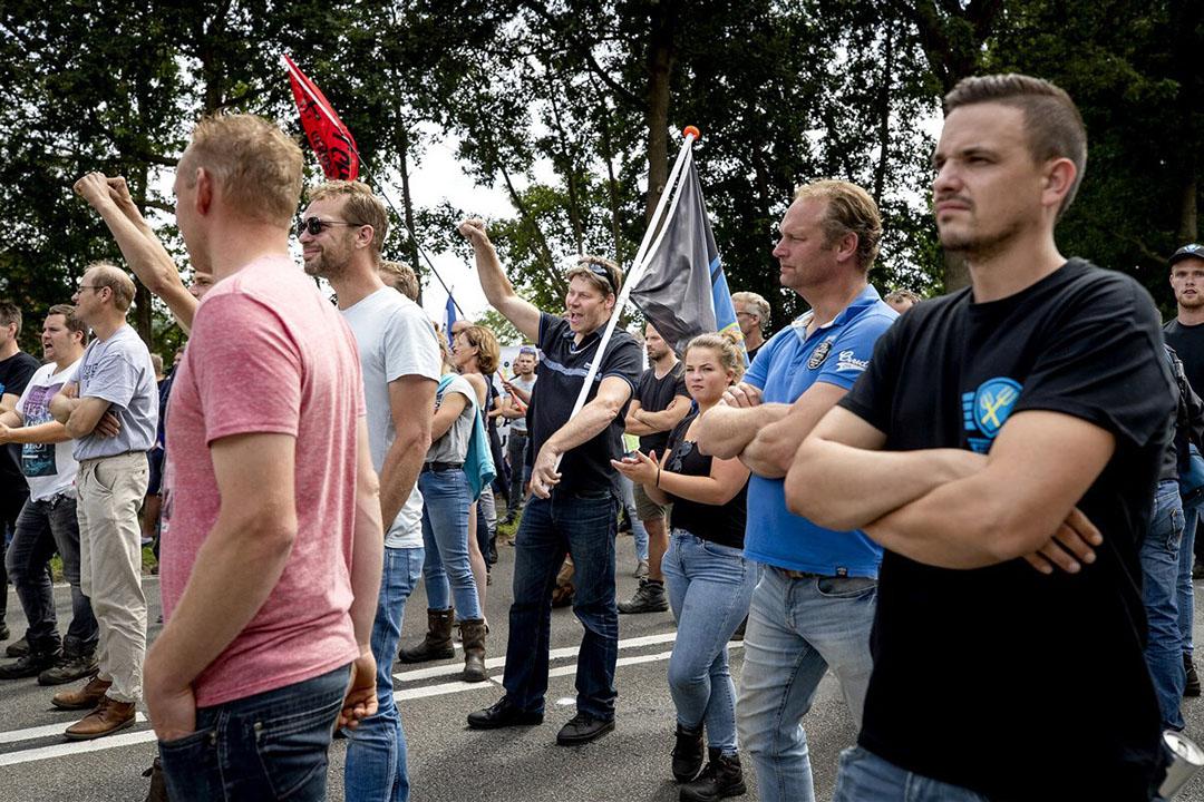 Boerenprotest bij het RIVM in Bilthoven, juli 2020. - Foto: ANP