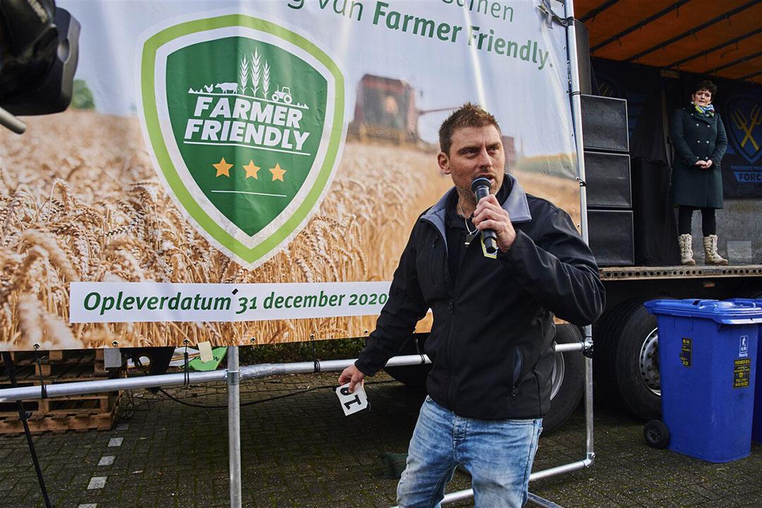 Mark van den Oever bij de presentatie van het Farmer Friendly-plan. - Foto: ANP