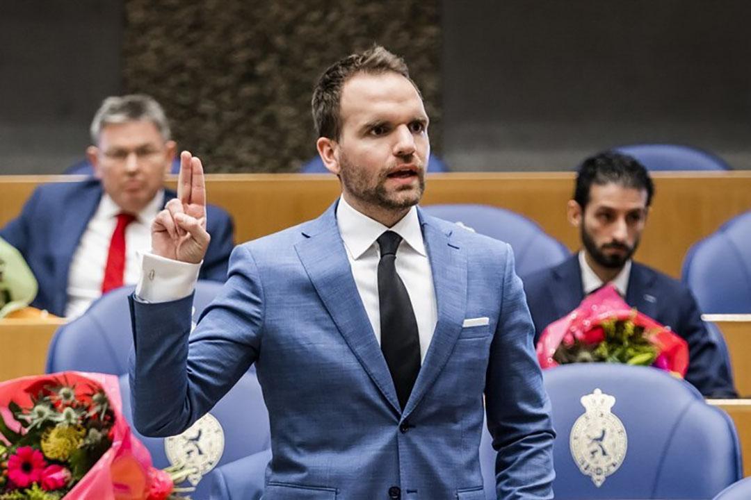 Derk Boswijk (CDA) tijdens de beëdiging als lid van de Tweede Kamer. - Foto: ANP