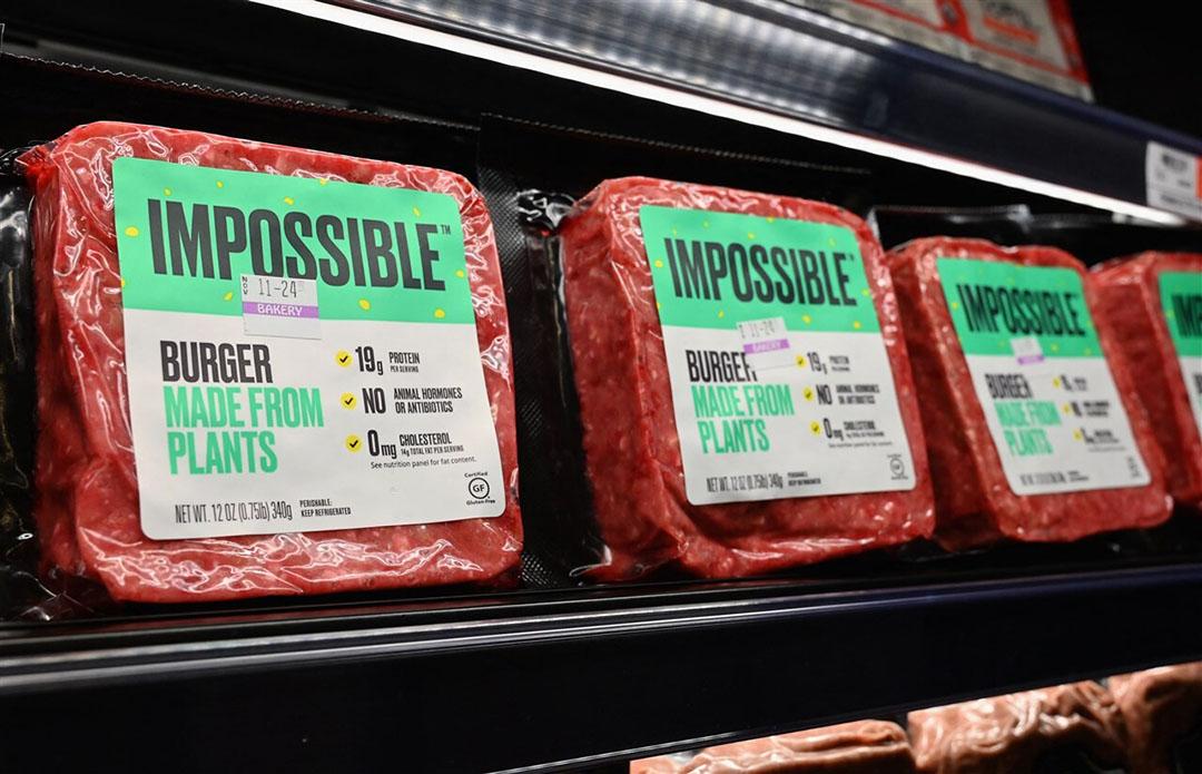 Volgens beursanalisten heeft Beyond Meat recent marktaandeel moeten inleveren ten koste van Impossible Foods, onder andere door prijsverlagingen. Foto: ANP