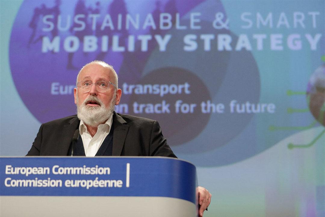 Frans Timmermans tijdens een toespraak bij de Europese Commissie. - Foto: ANP