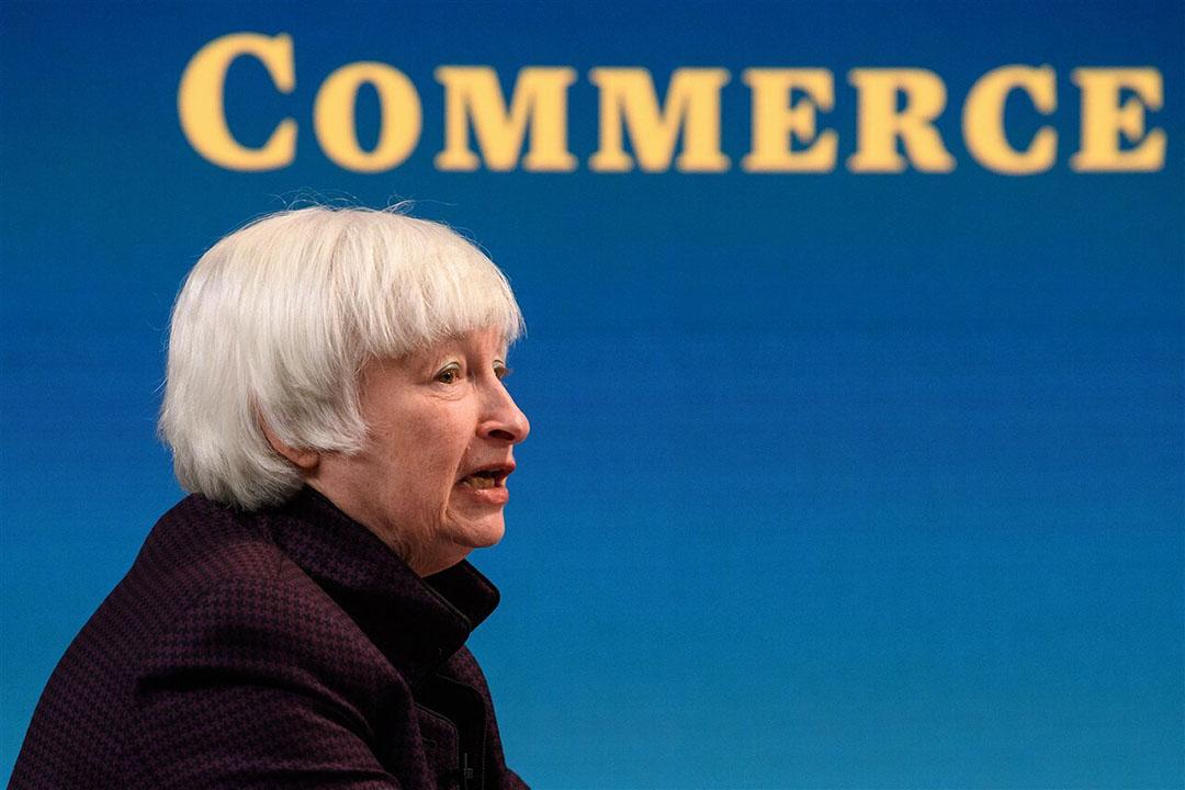 In de VS hintte de huidige minister van Financiën Janet Yellen deze week op een verhoging van de rente om een oplopende inflatie te beteugelen. Foto: ANP