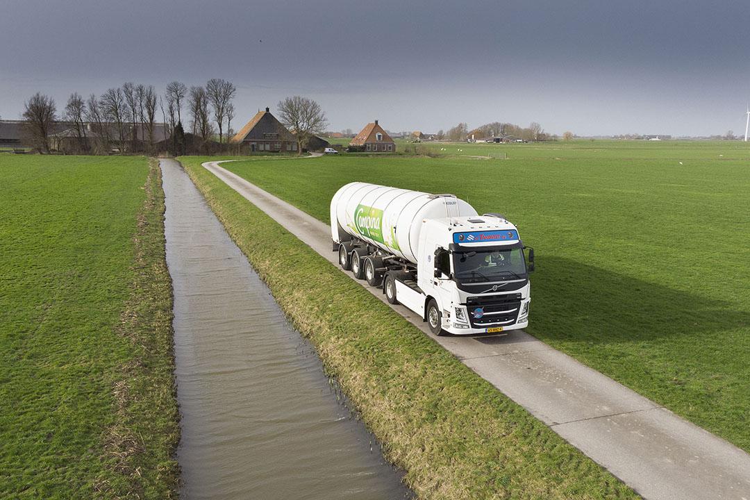 Een RMO-wagen van FrieslandCampina. - Foto: Mark Pasveer