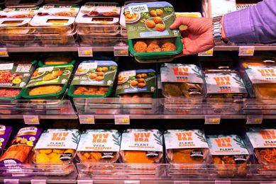 Het volume vleesvervangers groeit gemiddeld met 15% per jaar en daarmee groeit de productgroep harder dan elke andere voedingscategorie. Foto: ANP