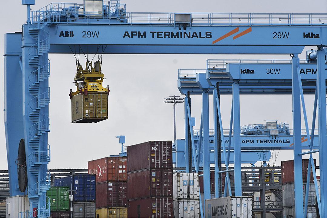 Veel van de fruithandel gaat via containeroverslag. - Foto: ANP/Peter Hilz