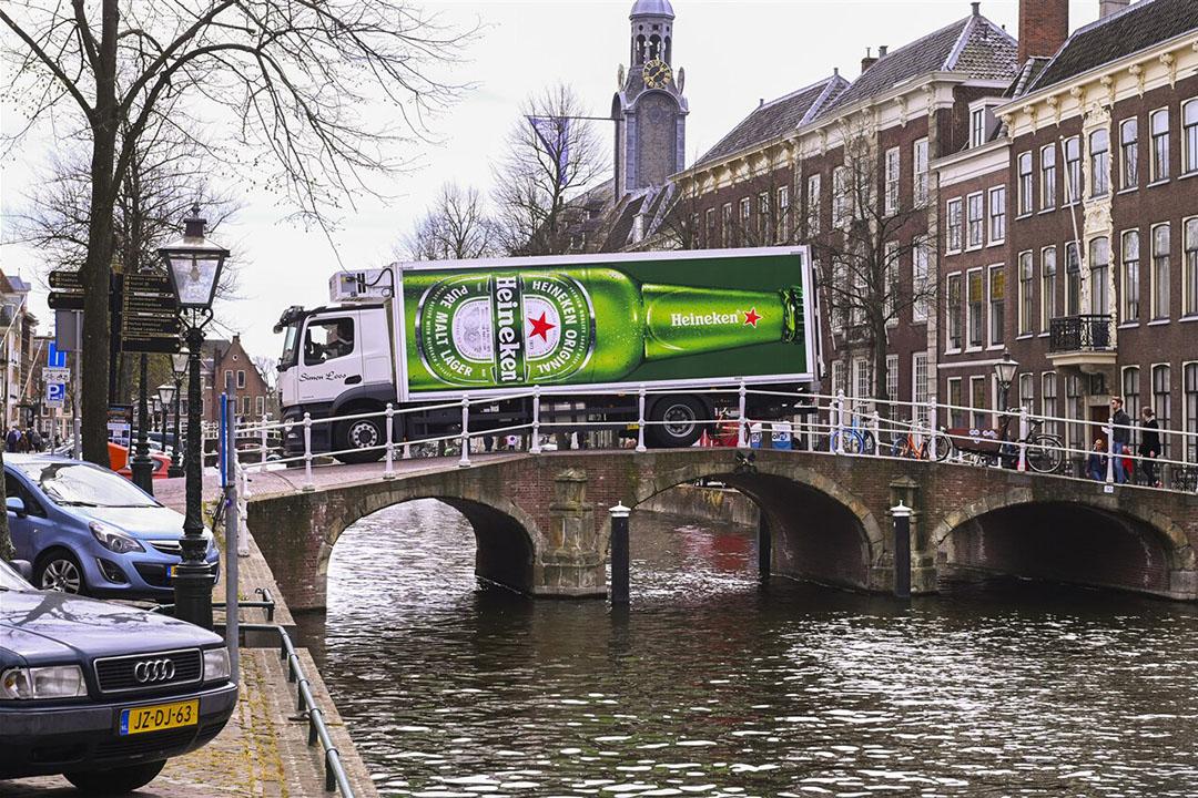 Een vrachtwagen van Heineken. De bierbrouwer is één van de grootste familiebedrijven van Nederland. - Foto: ANP
