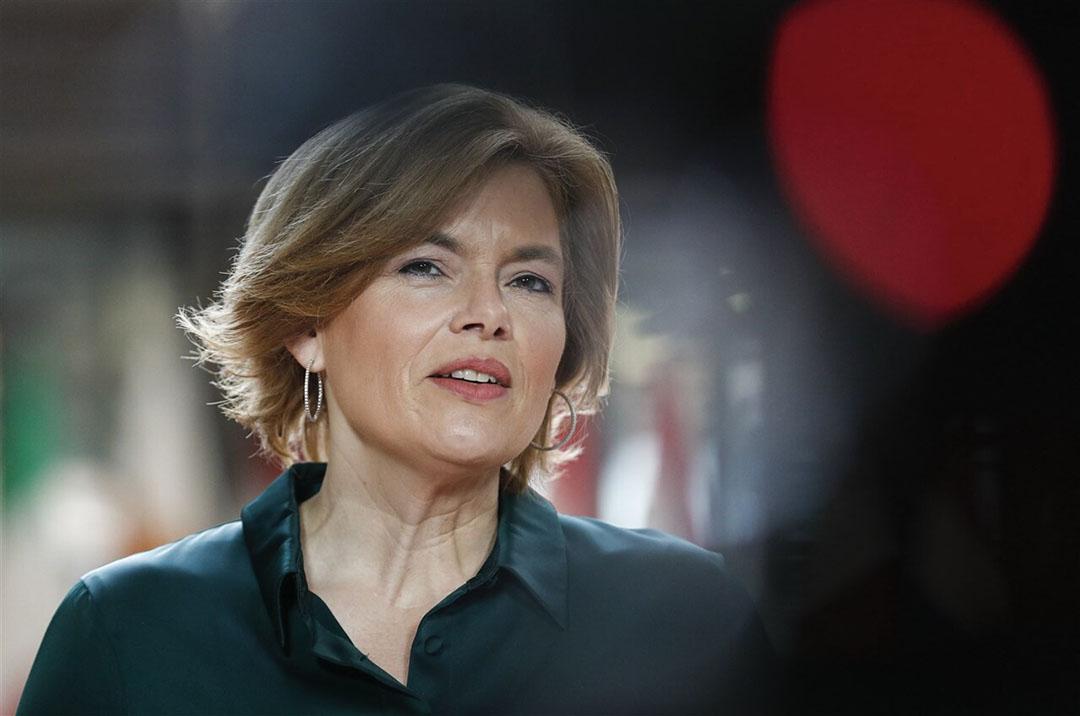 De door de Duitse landbouw- en voedingsminister Julia Klöckner ingediende regeling voor een dierwelzijnslabel is afgewezen door de Bondsdag. - Foto: ANP