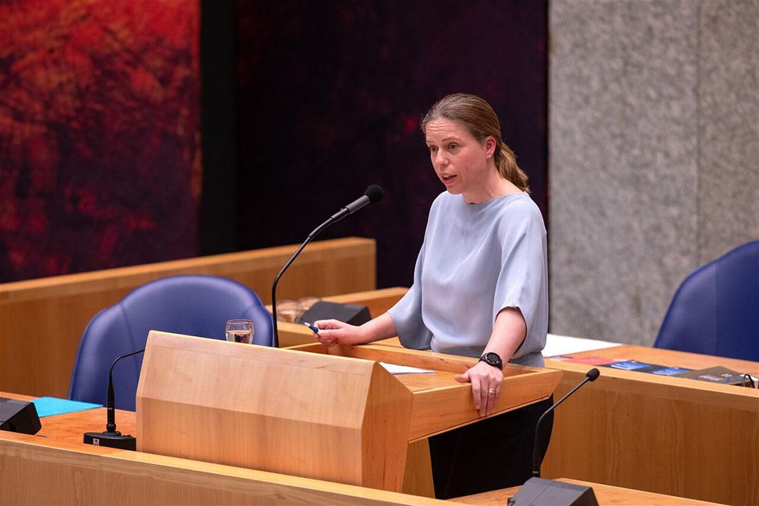 Minister Schouten tijdens het vragenuurtje in de Tweede Kamer over de Wet Dieren. - Foto: ANP