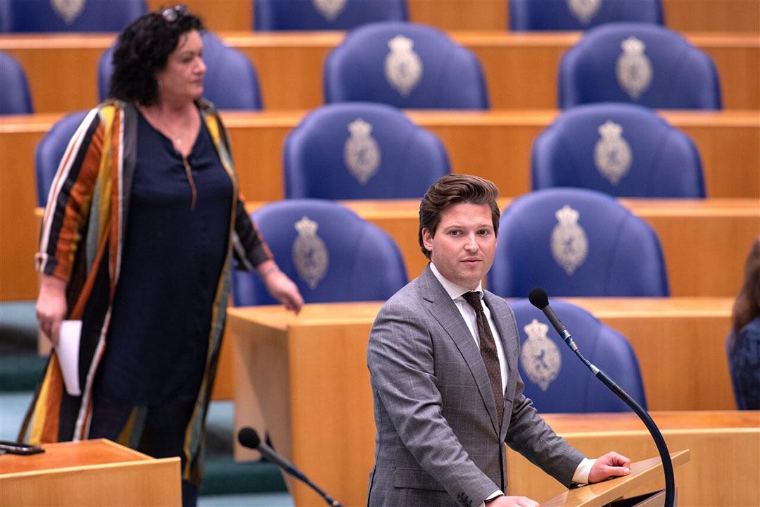 Thom van Campen (VVD) tijdens het vragenuurtje in de Tweede Kamer. - Foto: ANP