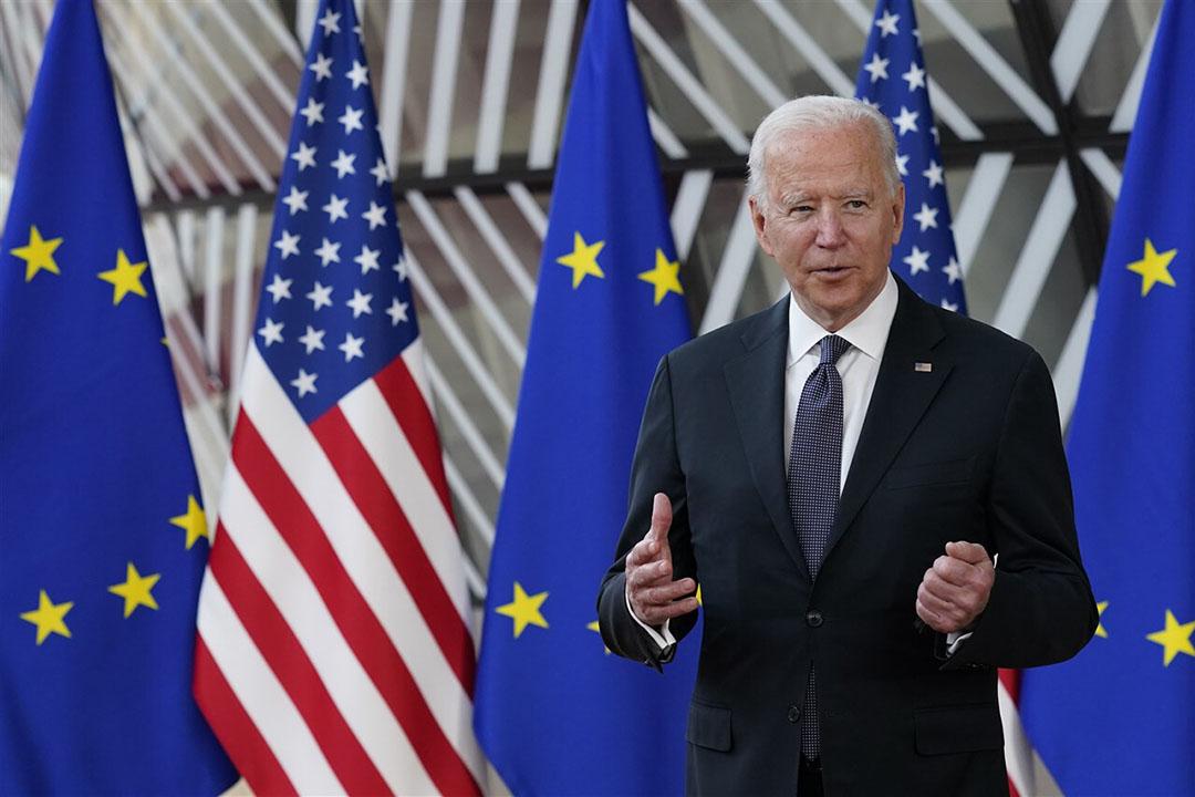 Joe Biden, president van de Verenigde Staten, is deze week in Brussel voor overleg met de Europese Unie. - Foto: ANP