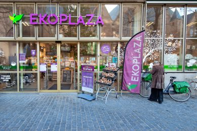 Een Ekoplaza-supermarkt. Veel producten in supermarkten bevatten palmolie. Ekoplaza kreeg al eens te maken met de Europese Palm Olie Alliantie. - Foto: ANP