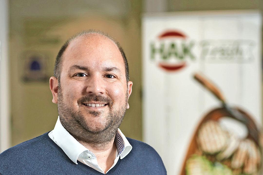 Rogier Hilkes (40) is sinds december 2020 directeur van HAK Fresh. - Foto: Van Assendelft Fotografie