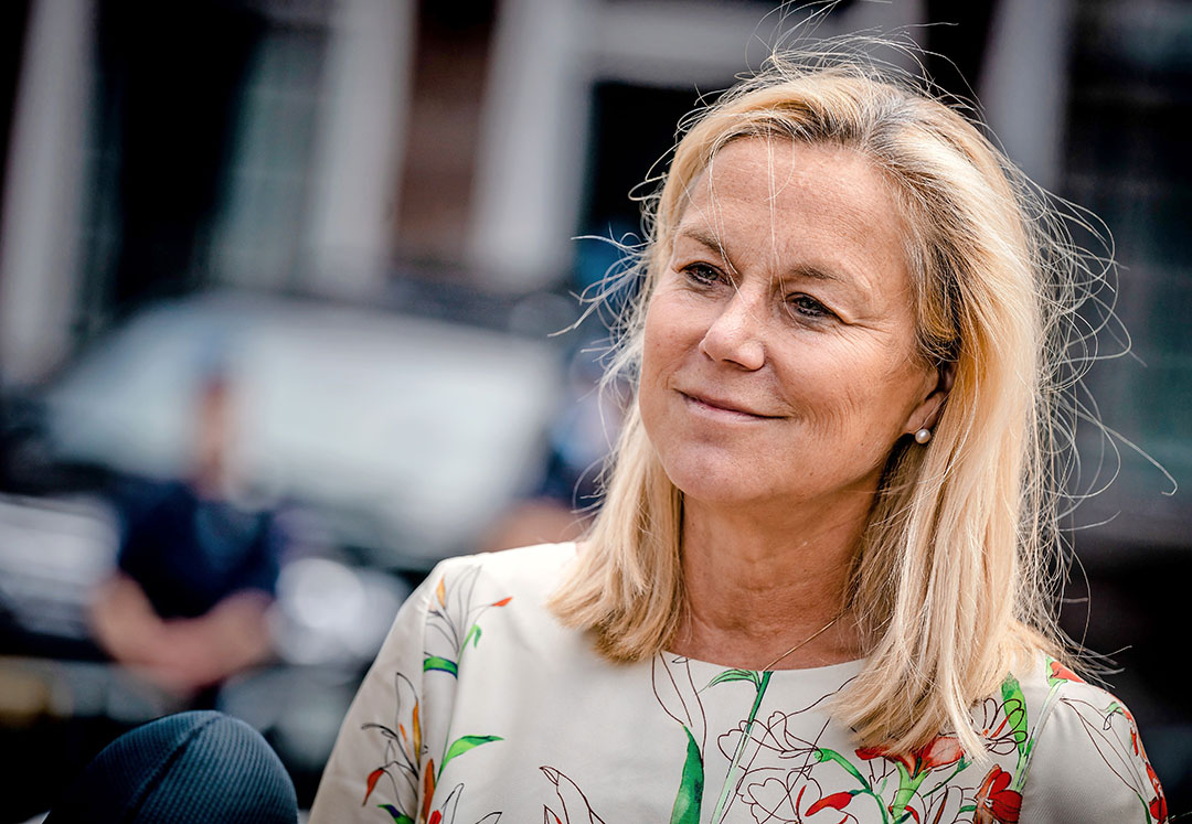 """Sigrid Kaag: """"De eerste drie maanden van dit jaar laten zien dat in euro's meer is uitgevoerd naar het Verenigd Koninkrijk dan in het voorgaande jaar."""" - Foto: ANP"""