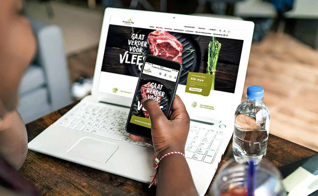 De Groene Weg heeft met de nieuwe webshop landelijk bereik. - Foto: Vion