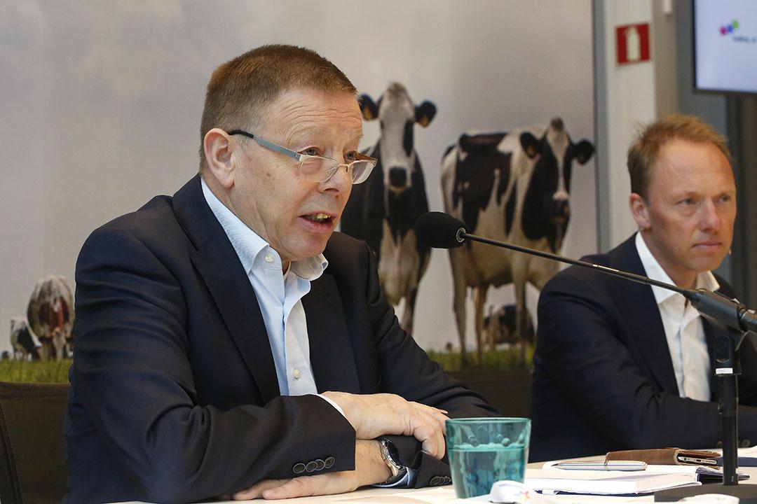 Frans Keurentjes tijdens presentatie jaarcijfers van FrieslandCampina in 2020. - Foto: Studio Kastermans