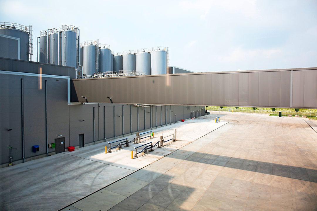 De fabriek van Vreugdenhil Dairy Foods in Gorinchem, dat ruimte heeft voor nieuwe leden. - Foto: Herbert Wiggerman