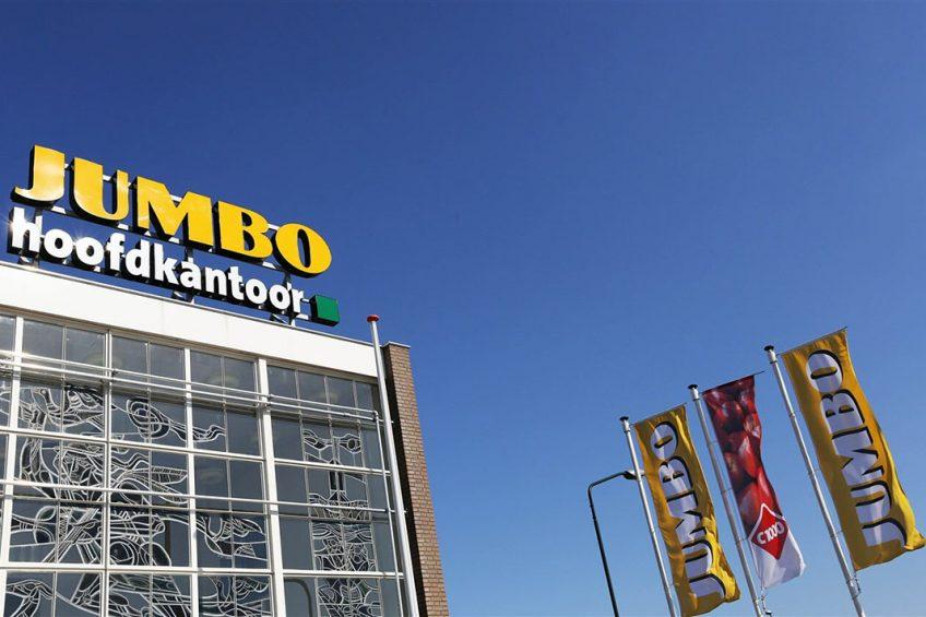 Hoofdkantoor en distributiecentrum van supermarktketen Jumbo in het Brabantse Veghel. - Foto: ANP