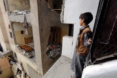 Oorlogsgeweld in Jemen. - Foto: ANP