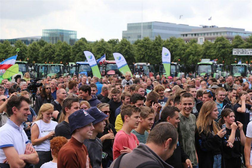Protesterende boeren op het Malieveld in Den Haag. - Foto: ANP