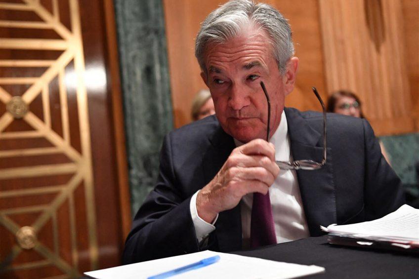 Er moeten eerst meerdere goede banencijfers komen voor de Fed de noodsteun af gaat bouwen, gaf Fed-voorzitter Jerome Powell aan in de toelichting op de besluiten. Foto: ANP