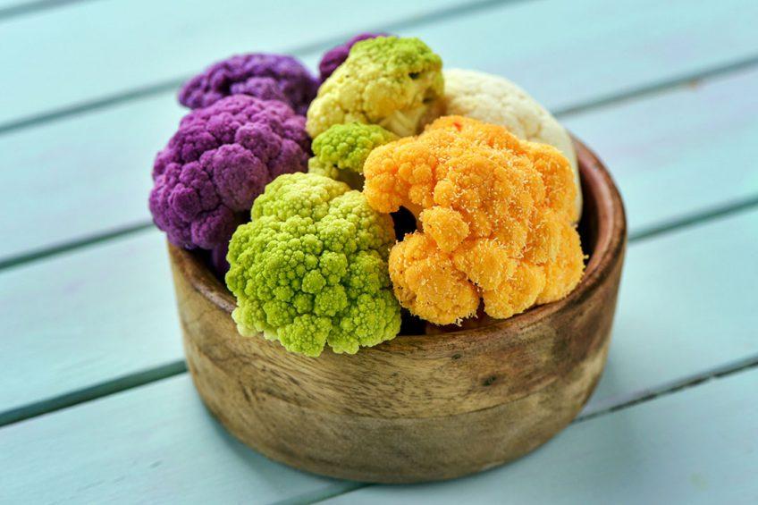 Bloemkool in diverse kleuren. - Foto: Canva