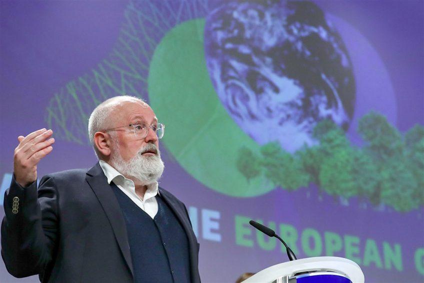 Frans Timmermans geeft leiding aan de activiteiten van de Europese Commissie met betrekking tot de Europese Green Deal. - Foto: ANP