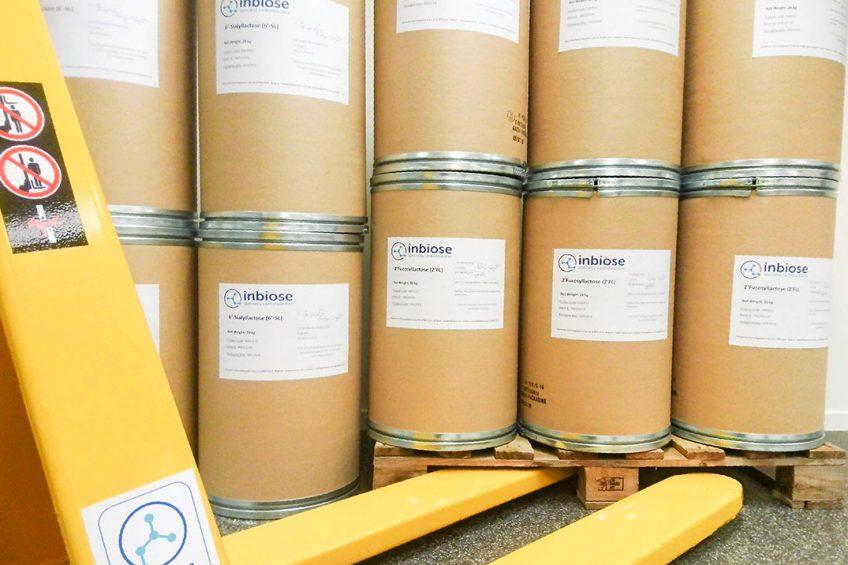 De moedermelksuikers van Inbiose zijn een product in poedervorm en daardoor goed bewaarbaar en transporteerbaar. - Foto: Inbiose