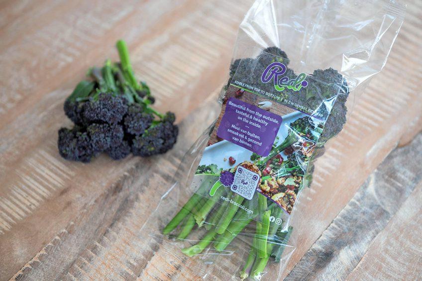 Redi is een paarse bimi-achtige broccoli met hoge voedingswaarden.