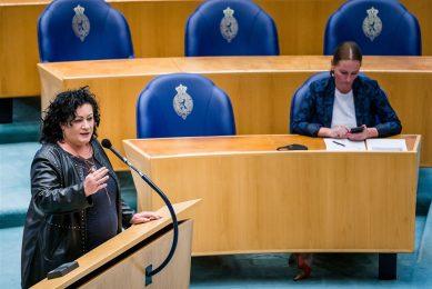 Caroline van der Plas (BBB) tijdens het wekelijks vragenuur in de Tweede Kamer. - Foto: ANP/Bart Maat