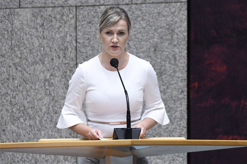 PvdD-Kamerlid Leonie Vestering. - Foto: Peter Hilz