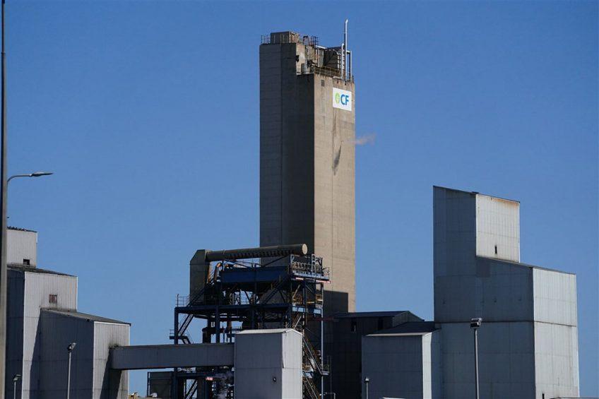 Een van de CF Fertilisers-fabrieken in Billingham, Cleveland, die gesloten is door de hoge gasprijzen.  - Foto: ANP