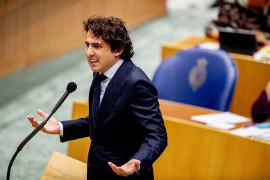 Jesse Klaver van GroenLinks tijdens de Algemene Politieke Beschouwingen vorige week. - Foto: ANP