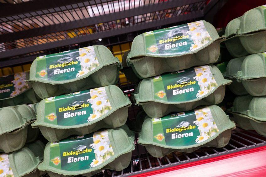 De top 3 meest verkochte biologische producten in de supermarkt zijn melkdranken (€73,5 miljoen), eieren (€67 miljoen) en yoghurt (€44,8 miljoen). Foto: ANP