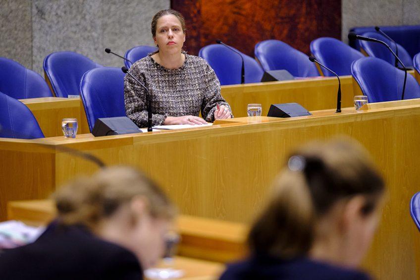 Carola Schouten, demissionair minister van Landbouw, Natuur en Voedselkwaliteit, in de Tweede Kamer. - Foto: Roel Dijkstra