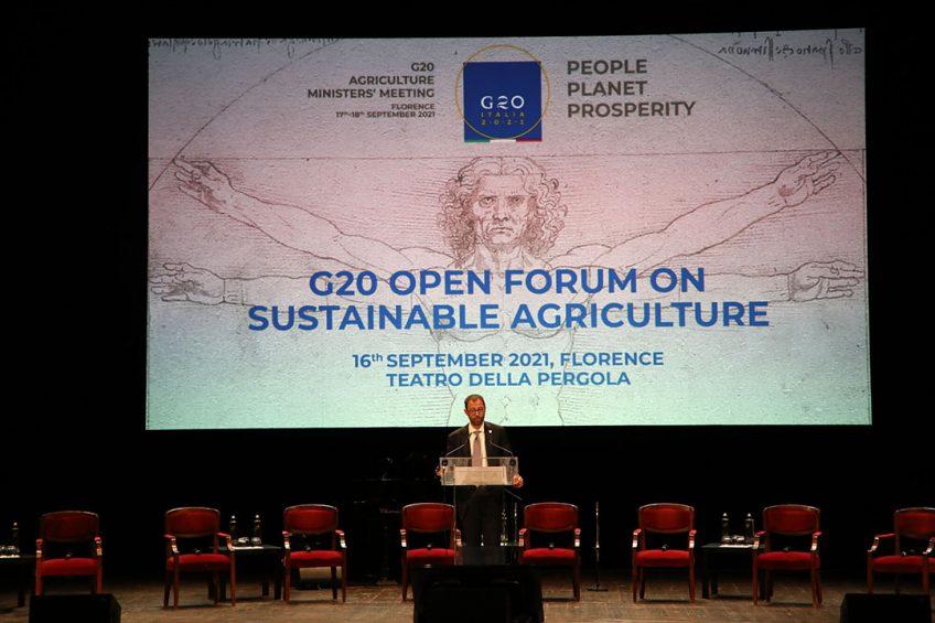 De ministers van Landbouw van de G20 kwamen vorige week bijeen in het Italiaanse Florence. Voor de bijeenkomst was er het Open Forum over duurzame landbouw. - Foto: G20.org