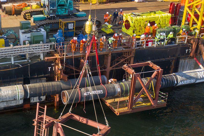 De pijpleiding Nord Stream II kan wellicht deze winter al Russisch gas naar Europa transporteren. - Foto: ANP
