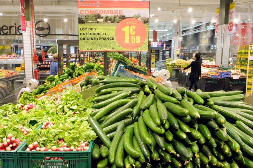 Groente in een Franse supermarkt. - Foto: ANP