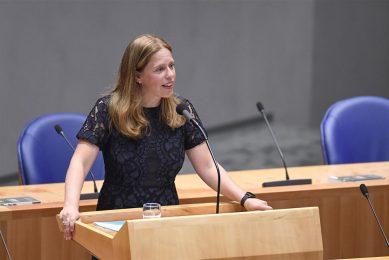 Demissionair minister van landbouw Carola Schouten in de Tweede Kamer. - Foto: ANP