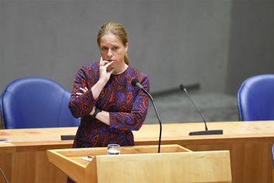 Minister van landbouw Carola Schouten tijdens het vragenuur op 5 oktober. - Foto: ANP