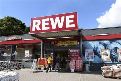Filiaal van de Duitse supermarktketen Rewe. - Foto: ANP