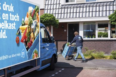 Steeds meer consumenten kiezen voor boodschappendiensten. - Foto: AH