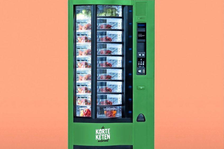Het idee is om automaten te vullen met streekproducten en die op drukke locaties te plaatsen. Foto: De Korte Keten Automaat