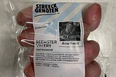 De Beemster Valery wordt geteeld in de kleigrond van Purmerend. Door deze grond krijgt de aardappel een opvallende roze kleur. - Foto: Albert Heijn