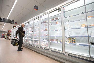 Britse consument in supermarkt
